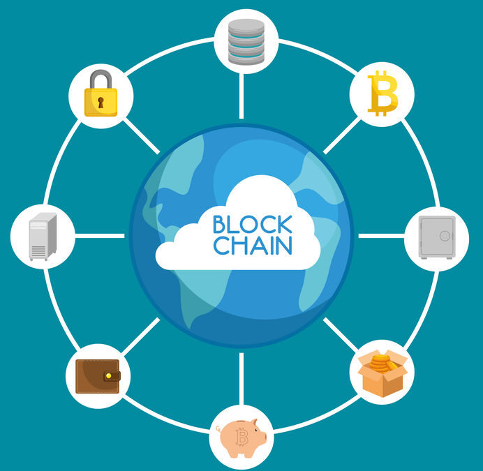 image blockchain graphic